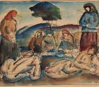 Izložba akvarela iz kolekcije Milutina Popovića u Prodajnoj galeriji Beograd
