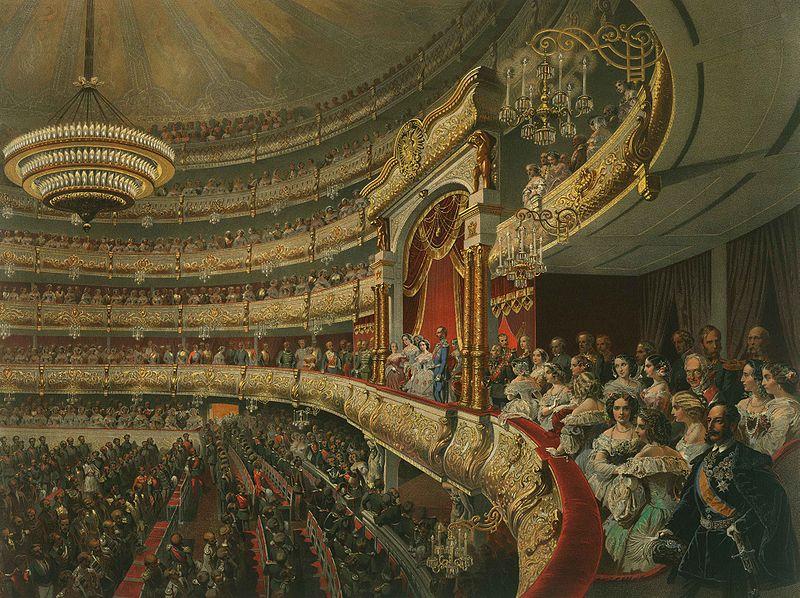 Mihaly Zichy, Boljsoj teatar, 1856.