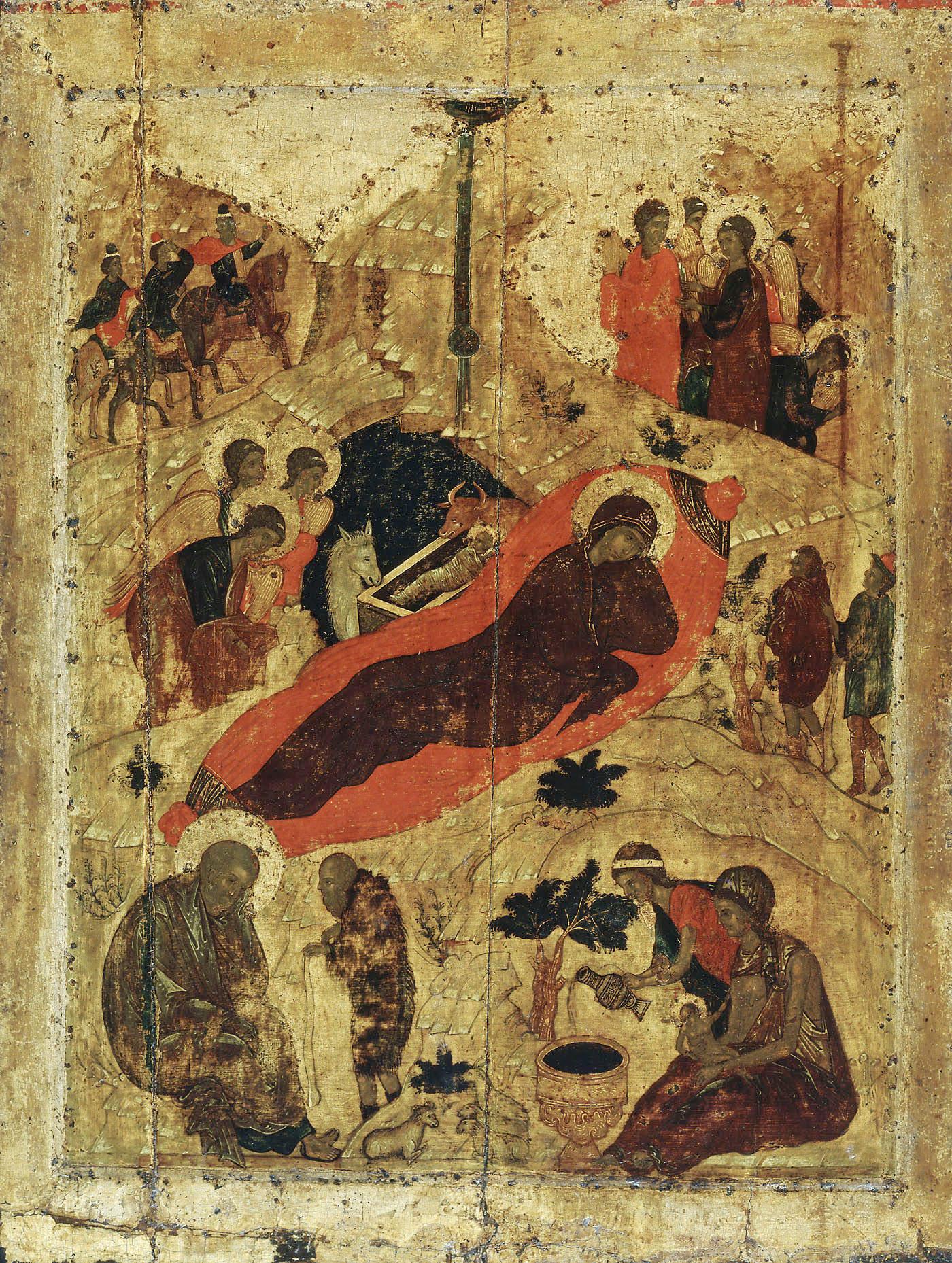 Andrej Rubljov, Rođenje Hristovo, 1405, Kremlj, Moskva