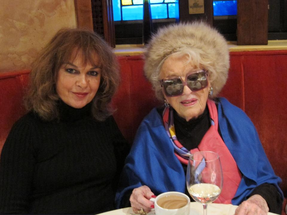 Bel Kaufman with her friend Isabel Madden
