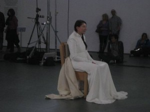 Marina Abramovic, The Artist is Present, MOMA, 2010, ©Isabel Bau Madden