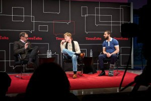 Carr, Redford, LaBeouf, TimesTalks, photo ©Matthew Arnold