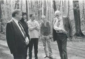 Jasna Poljana 1997, sa Iljom Iljičem, Vladimirom Iljičem i Iljom Vladimirovičem Tolstojem, potomcima Lava Tolstoja