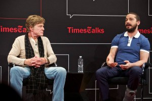 Robert Redford and Shea LaBeouf, TimesTalks, NY Times, photo ©Matthew Arnold