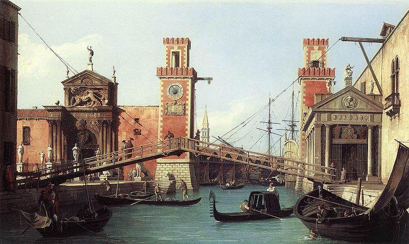 Kanaleto, Arsenal, Venecija