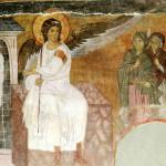 Mironosnice na Hristovom grobu, Beli andjeo