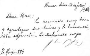 Pisamce H.L. Borhesa ocu na[e autorke Isabel
