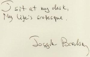 Joseph Brodsky signature