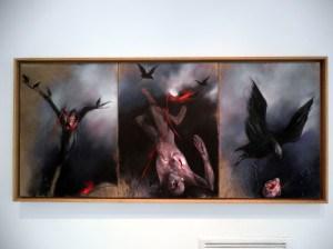 Postavka izložbe GAVRANI u Galeriji SANU,  ©Pavle Tišma