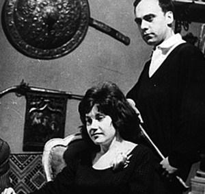 Olja Ivanjicki i Leonid Šejka, 1960, proslava Nove godine