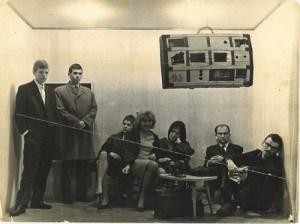 Otvaranje izložbe Pop Arta Olje Ivanjicku u Galeriji Grafičkog kolektiva, 1964