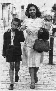 Leonid Šejka sa majkom Katarinom Zisić, arhiva Peđe Ristića