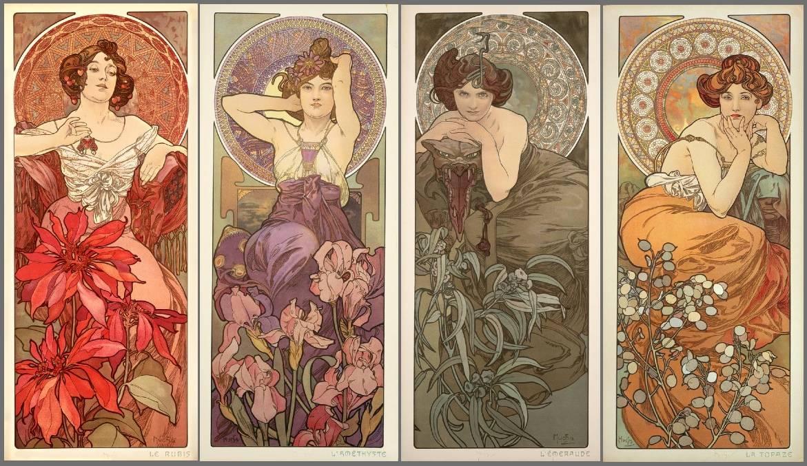 Tipične lepotice Alfonsa Muhe