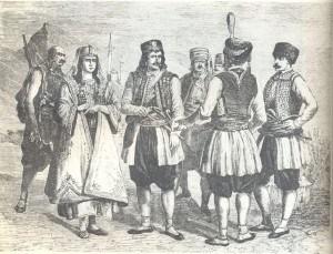 Crnogorci, stara grafika nepoznatog autora
