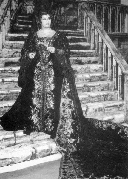 Biserka Cvejić u Metropoliten operi, 1966.