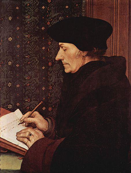 Hans Holbajn Mlađi, Portret Erazma iz Roterdama, 1523,Muzej Luvr, Pariz