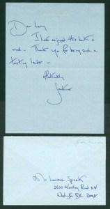 Pismo i rukopis Džeki Kenedi Onazis