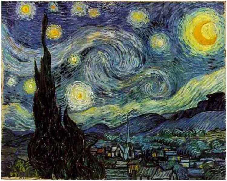 Zvezdana noc, Van Gog