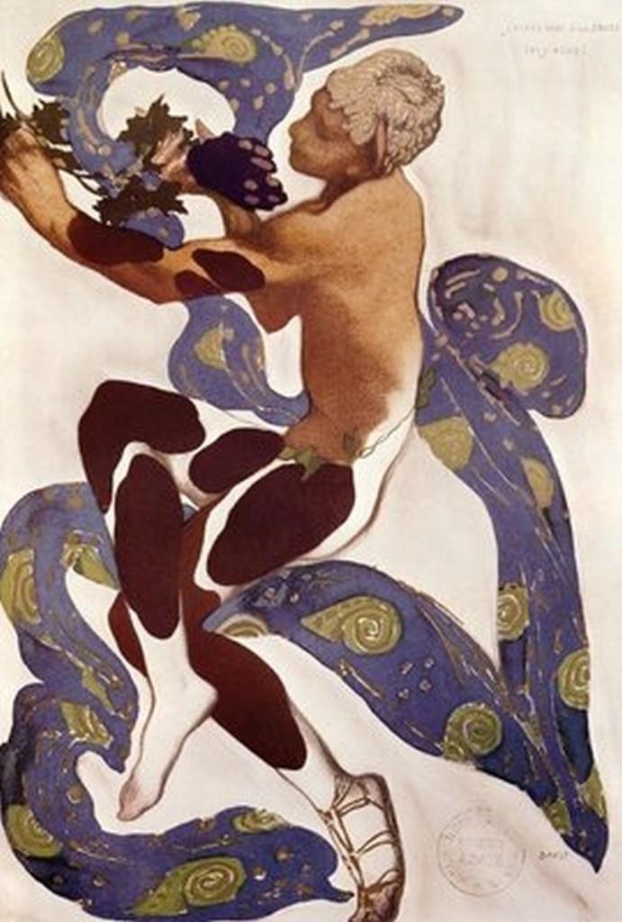 Leon Bakst: kostim za Nižinskog, Popodne jednog fauna