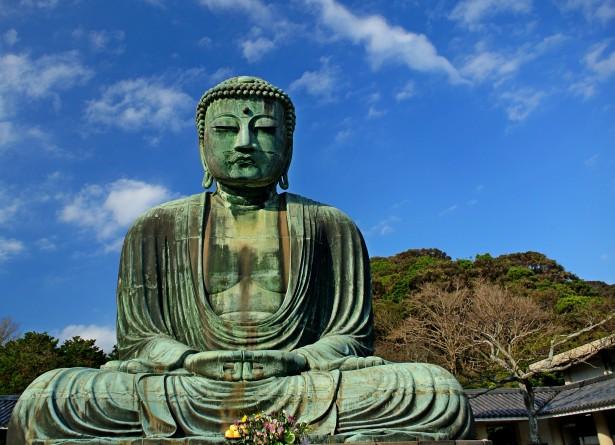 Velika statua Bude, bronza, Kamakura, Japan