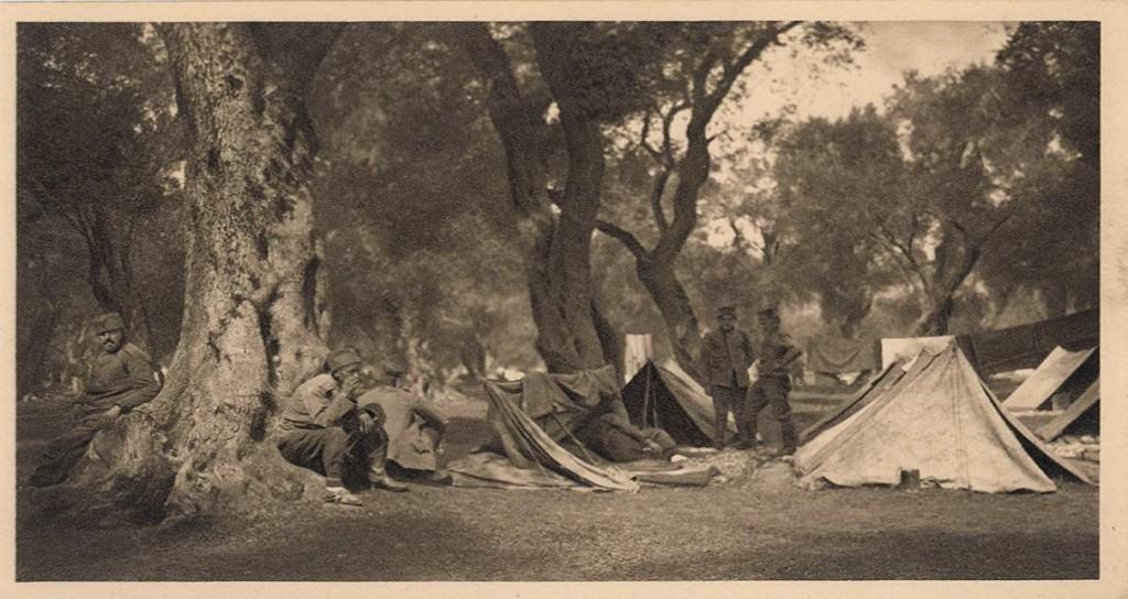 Cernov, vojska na Krfu