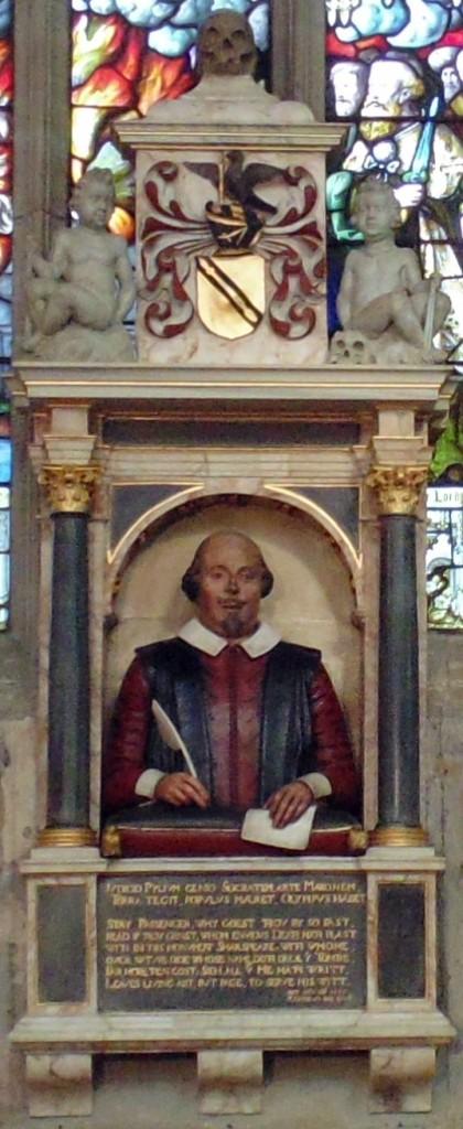 Nadgrobni spomenik Viljema Šekspira u crkvi u Stratfordu na Ejvonu