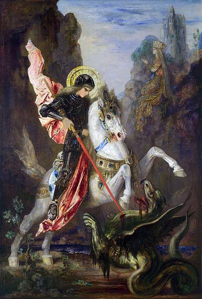 Gistav Moro, Sveti Đorđe i zmaj, 1889/90, Nacionalna galerija, London