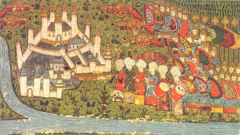 Opsada Beograda, turska minijatura 1456.