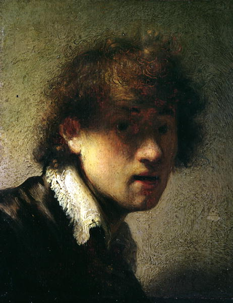 Rembrandt self portrait, 1629