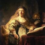 Saskija kao Minerva, Rembrant