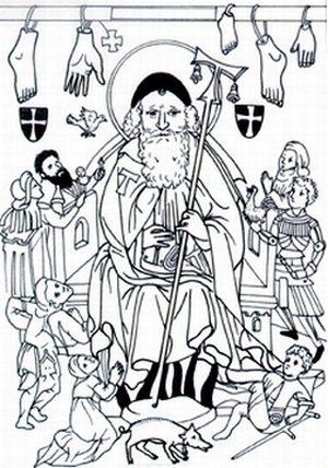Sv. Antonije, zaštitnik obolelih od ergotizma