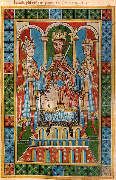 Glavni krivac za širenje epidemije ergotizma je Fridrih I Barbarosa - foto: Welfenchronik 1167/79, minijatura, Opatija Vajngarten, Nemačka