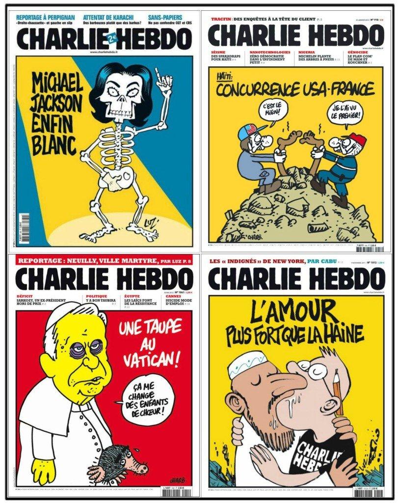 Naslovne strane Šarli ebdoa