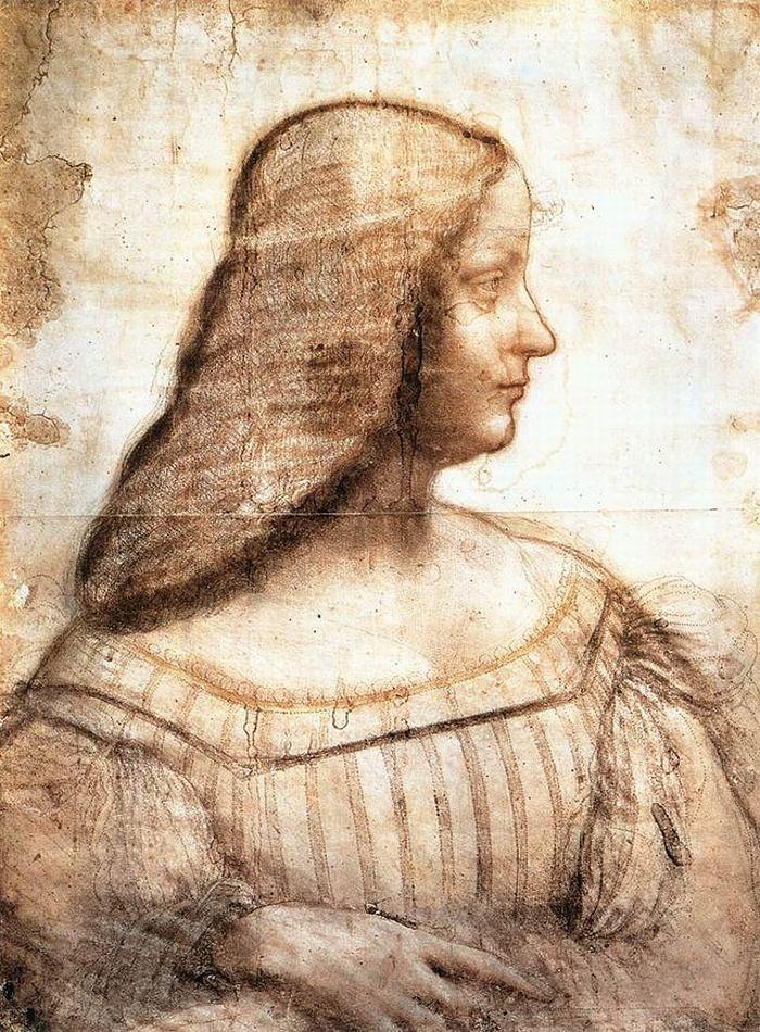 Leonardo - Izabela D'Este, 1499-1500, Luvr, Pariz