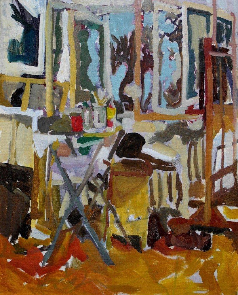 Tajana Kajtez - Atelje, 2011, ulje na platnu, foto © dokumentacija Artis centar, Beograd