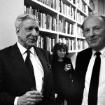 Roger Straus and Joseph Brodsky with Isabel at PEN Center, 1987, photo © Czeslaw Czaplinski
