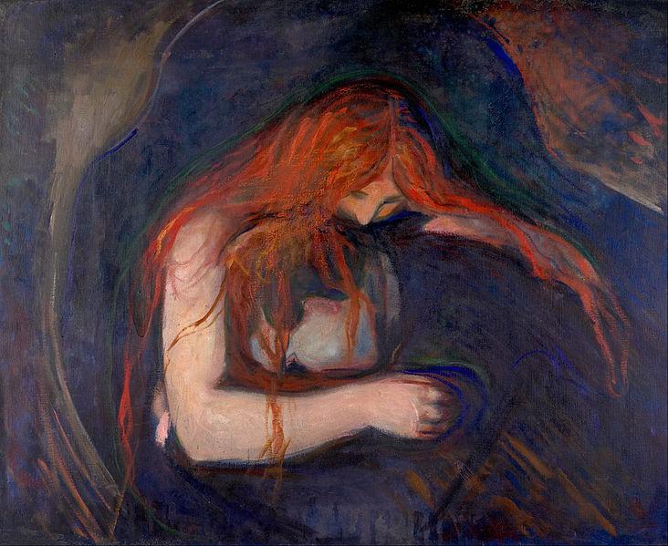 Edvard Munk - Vampir, 1895.