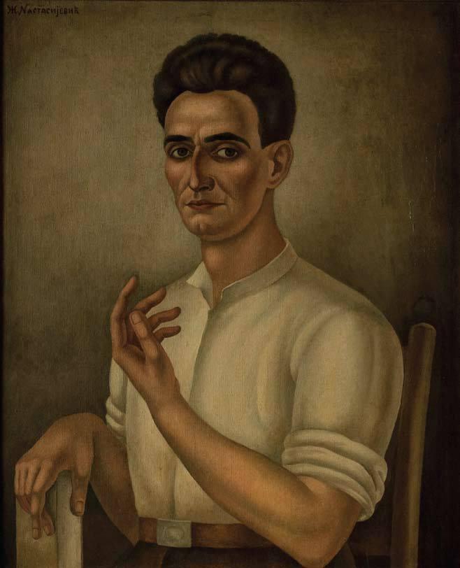 Momčilo Nastasijević  1927, portret naslikao njegov brat Zivorad Nastasijević