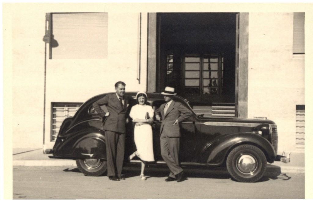 Pavle Beljanski sa prijateljima, Italija, foto SZPB