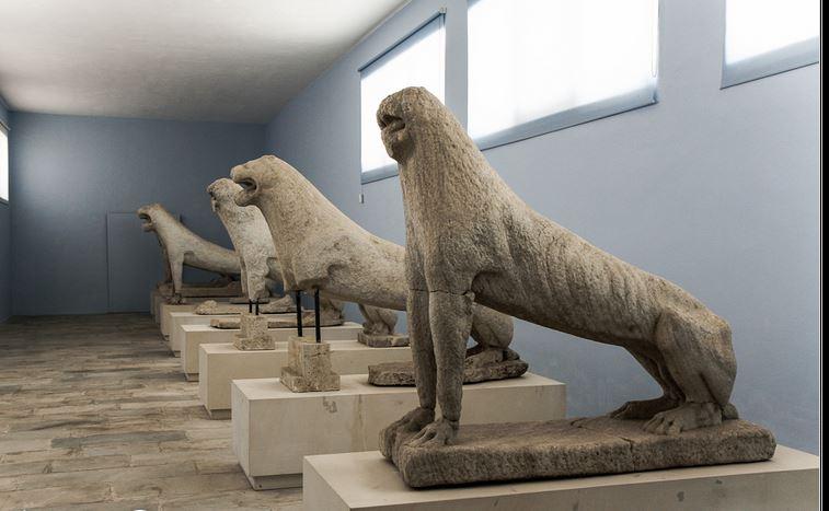Mermerni lavovi sa Delosa, Arheološki muzej, Delos, 6. vek p. n. e