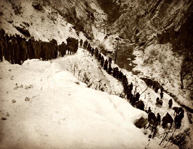 Prelazak preko Albanije, 1916.