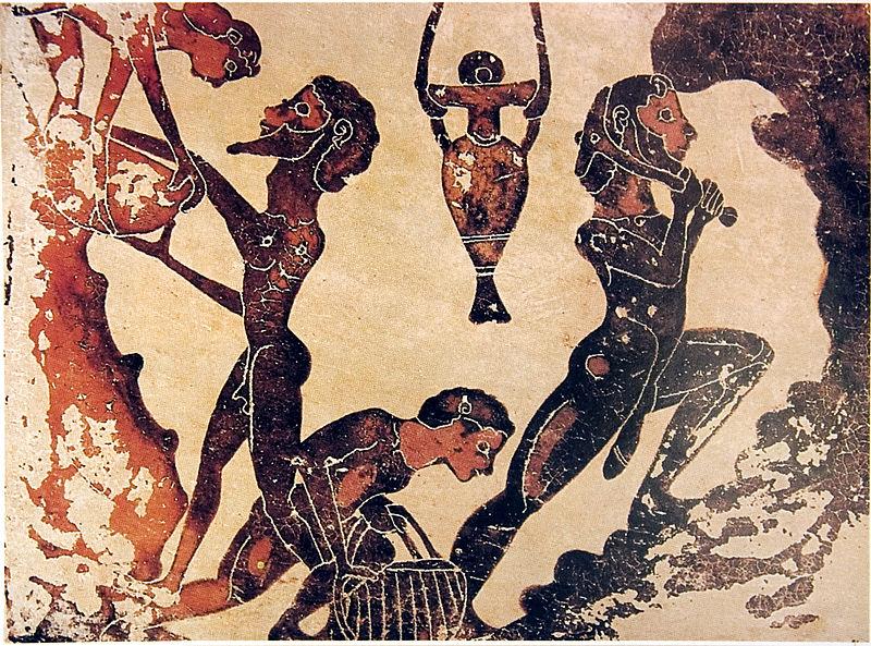 Robovi rade u rudniku, antička Grčka
