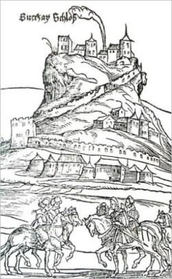 Zvečan, crtež iz 1530. godine