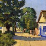 Seoska ulica, Sava Sumanovic, Sid, 1933, slika
