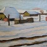 Sneg, ciglana, Sumanovic, Sava, siski pejzaž, belo, Laura Barna
