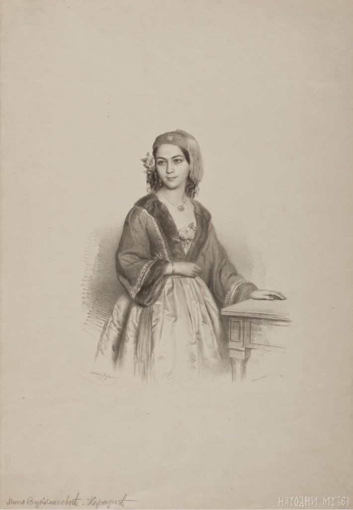 Mina kAradžic, litografija Deker