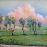 vecernji oblaci, sava sumanovic, pejzaž, Šid