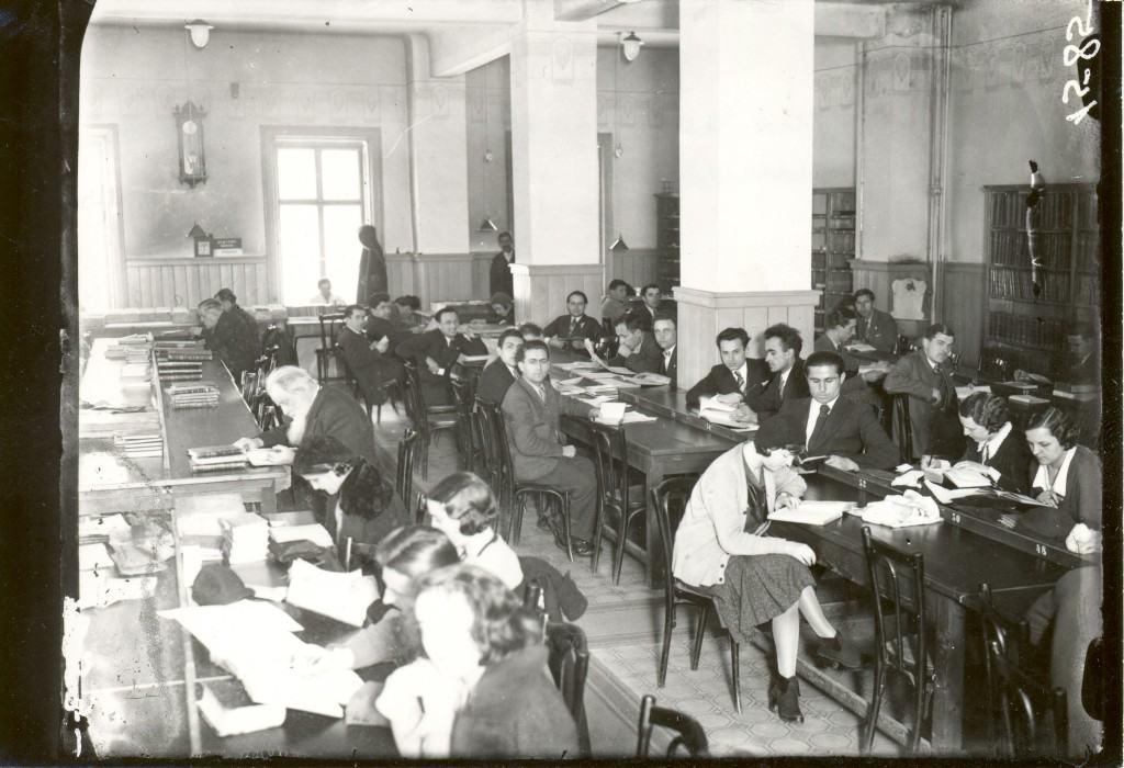 Čitaonica u Narodnoj biblioteci Srbije na Kosančićevom vencu