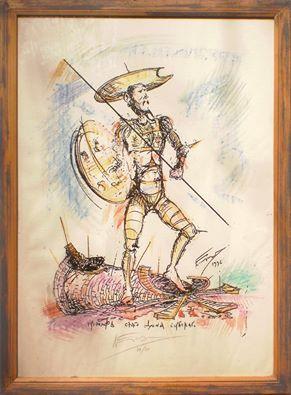 NEnad Nikolić, Trijumf svetog Dona Serbskoga, crtež