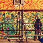 Aki Zum na Arlemm-u, slikanje murala za Arilje, 2016.